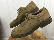 HUSH PUPPIES Men's Suede Shoes Size 13 Made in USA Earth Brown