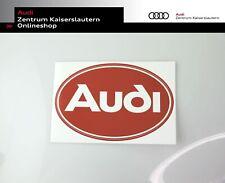 Audi Oval Aufkleber ZUB9011 in 12,3 x 19 cm in rot und weiß Audi Tradition