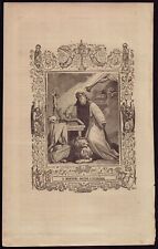 ST JEROME, DOCTOR & FOUNDER 168x270mm Antiq 19th ENGRAVING FROM BOOK