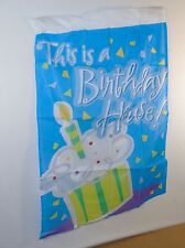 "Birthday House Party Flag ~ 28"" x 40"" Nylon Banner For Yard, American Greetings"