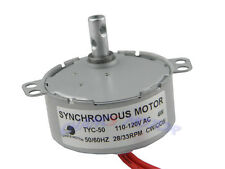 110V AC 28/33 RPM TYC-50 Synchronous Motor 4W 50/60HZ CW/CCW  High quality NEW!
