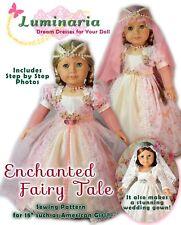 "American Girl Doll Dress Clothes Pattern 18"" Doll PDF Wedding Dress Princess"