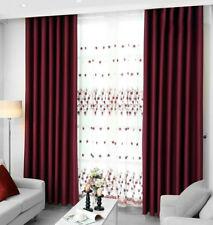 Gardine Verdunkelungsgardine Vorhang mit Kräuselband blickdicht Schal Einfabie