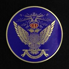 Masonic 33rd Degree Car Auto Emblem Wings Up (Purple) SRA-35