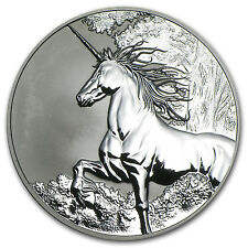 2014 Tokelau 1 oz Silver $5 Unicorn Reverse Proof - SKU #80181