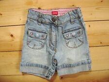@ ESPRIT @ süße kurze Jeans blau für Mädchen Gr. 92 verstellbarer Bund