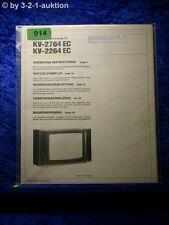 Sony Bedienungsanleitung KV 2764EC / 2264EC Colour TV (#0914)