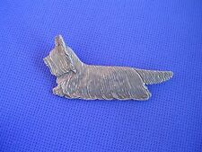 Skye Terrier pin Trotting #82A Pewter Dog Jewelry by Cindy A. Conter Cac Designs