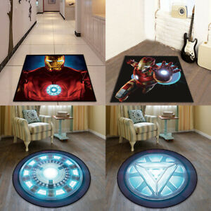 Avengers Superhero Anti-Skid Carpet Round/Rectangle Mat Bedroom Room Area Rugs