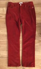 FRAME Le High Straight High-Waist Stretch Corduroy Jeans Turkish Red Size 29x26