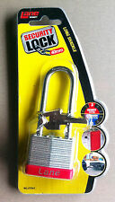 2 X LANE SECURITY LAMINATED  PADLOCK LONG SHACKLE 40MM BRAND NEW IN PACK