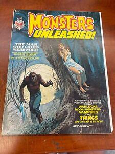 Marvel Monsters Unleashed Horror Magazine 1973 #1 1ST APPEARANCE SOLOMON KANE