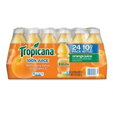 Tropicana 100% Orange Juice (10 oz., 24 pk.) Brand new.!!