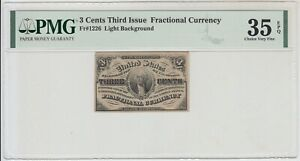 US 3 Cents Fractional Currency Third Issue PMG 35 Choice Very Fine EPQ C0003