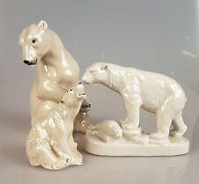 alter Porzelan Eisbär Eisbären 3 St.Figur Bär