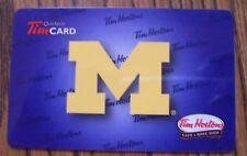 University of Michigan 2014 Collectible Gift Card NO CASH VALUE Rare Tim Hortons