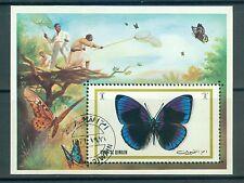 Umm al-Qaiwain Block 50 , o , Motiv Tiere - Schmetterlinge