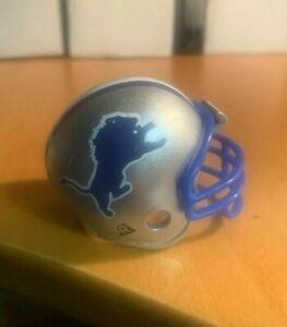 Riddell pocket pro football helmet NFL Detroit Lions TRADITIONAL BLUE facemask