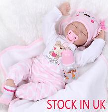 "Real Life Like 22"" Sleeping Reborn Doll Baby Soft Newborn Dolls Kids Xmas Gift"