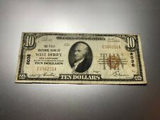 New listing West Derry, New Hampshire 1929 National Note. Charter 8038.Rare!