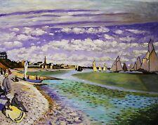 "Claude Monet  Repro  Oil Painting - Regatta at sainte-adresse - size 36""x28"""