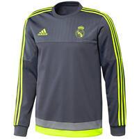 adidas Real Madrid Sweat Top Sizes S-XXL Grey RRP £50 BNWT S88891