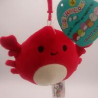 "Squishmallows Clip On 3.5"" Carlos Red Crab Sealife 2020 Plush NWT Squishmallow"