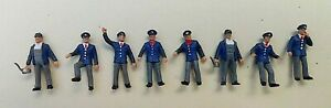 ,8 Painted Preiser Figures HO 1/87 Scale Railway Workers