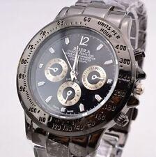 Fashion Men's Stainless Steel Band Golden Silver Watches Quartz Wrist Watches