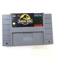 Jurassic Park (Super Nintendo SNES) Game TESTED & WORKING! - Authentic!