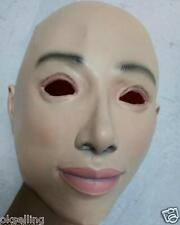 LATEX FEMALE DISGUISE CROSS DRESS TRANSGENDER RUBBER FULL HEAD WOMAN LADY MASK