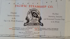 1917 Pacific Steamship Co Map ~ The Admiral Line ~ P.S.S.Co ~ Poole Bros Chicago