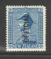 New Zealand 1927 2sh Admiral Official Mtd Mint