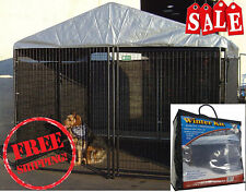 Big Dog Kennel Cage Pet Wind Screen Extra Large Outdoor Heavy Duty Portable NEW
