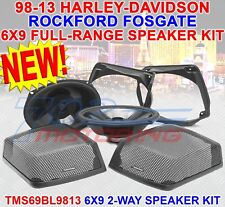 ROCKFORD FOSGATE TMS69BL9813 FOR HARLEY DAVIDSON REAR AUDIO KIT 1998 - 2013 6X9""