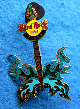 OSAKA JAPAN JAPANESE GREEN & AQUA BLUE GUITAR SERIES 2004 Hard Rock Cafe PIN LE
