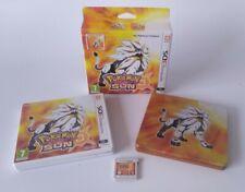 Pokemon Sun Fan Edition SteelBook Case  Nintendo 3DS Game Complete