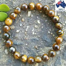 TIGERS EYE Bracelet Chakra Crystal Healing 100% Natural Gemstones Worry Beads