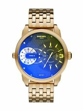Diesel Men's 46mm Gold Steel Bracelet & Case Mineral Glass Quartz Watch DZ7341