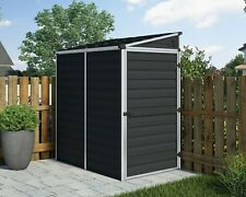 SKYLIGHT PENT PLASTIC GARDEN SHED 4 X 6 MIDNIGHT GREY