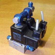 Festo 1/8 Pneumatic Solenoid Valves 24V DC Coils - 2x MCH-3 - 2x MSG-00