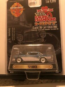 1/64 RACING CHAMPIONS MINT 1957 BUICK CENTURY BLUE & WHITE