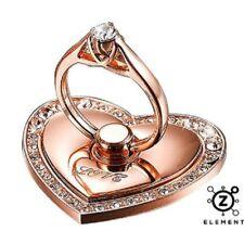 Rose Gold Pop Up Crystal Ring. Metal Phone IPhone grip holder. 360 Socket