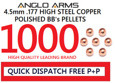 Anglo arms 1000 steel 4.5mm high polished BB's pellets round copper .177 metal