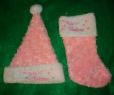 Livemate/Trading/Co~girls ~Fancy/Pink/White/Baby 9;S/1st/Xmas/Stocking/& ;/Hat! Cute!