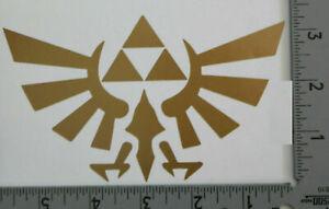 Gold Zelda Triforce NES Video Game Decal Sticker Car Window Bumper Sticker AUC 2