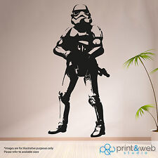 Star Wars Life Size Wall Sticker Storm Trooper Decal Art Mural Bedroom