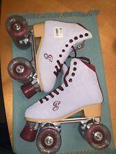 Candi Girl Carlin Quad Artistic Roller Skates - BLUE/BUEGUNDY women's size 5