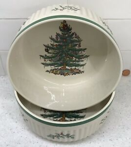 MINT Spode Christmas Tree Souffle Dish … Serving Bowl🎄Imperial Cookware England