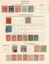 TRANSVAAL/TRANSJORDAN: 1869-1934 - Ex-Old Time Collection - 2 Sides Page (33117)